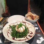 Burrata and arugula salad
