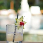 welcome drink by the pool