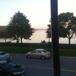 Vue de notre table sur le Fjord