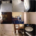 Two queen beds, room perfectly clean, beds and pillows perfectly comfortable. The closet is very