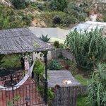 vista al jardin interior desde la terraza