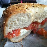 Everything bagel with lox. YUM