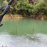 River swing seen from walking path