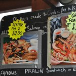 Seafood Platters Menu