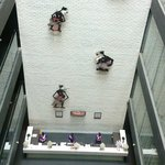 A lobby with wayang