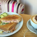 Ham and Cheese - Massive portions plus logo coffee too! :-)