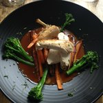 Roast chicken, broccoli and sweet potato chips