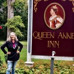 Queen Ann Dunham at the Queen Anne Inn in Annapolis Royal , Nova Scotia.  Photo by Terry Hunefel