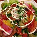 Salad, some veg for in between meat break.