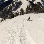 Skiing Teton Pass, not far from Targhee