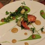 langouste et legumes de saison