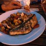 salmon and chorizo