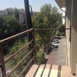 Balcony without railing