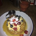 Pancakes with berries my fave!
