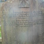 Thomas Carlyle's tombstone