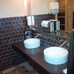 Clean modern washroom