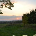 A sunset view from Meon Hill near Stratford on Avon