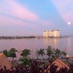 Riverside view sunset