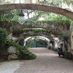 Arches in the old part of the Hacienda