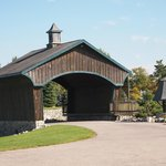 The Covered Bridge onto the Grounds