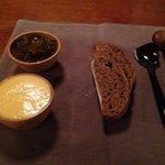 House made buckwheat bread, smoked butter, & chutney