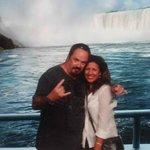 Alda and I at the falls