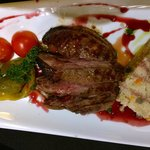 Roasted duck with couscous