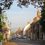 The Village of Wye: view down Bridge Street across the end of the High Street