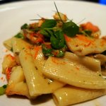 Special:  Rigatoni with Lobster, mixed mushrooms, pea tendrils, miso butter