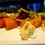 Roasted Beet Salad, Goat Cheese Mousse, Marinated Mushrooms, Upland Cress, Pistachio Biscotti