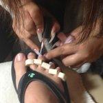 manicurist had crazy dangerous nails!