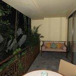 balcony in the room