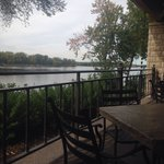View of the Mississippi from our table.