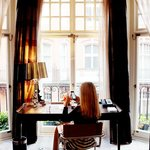 Writing desk overlooking Mayfair