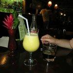 Drinks at bar. Jack and coke and cocona daquiri
