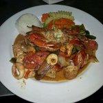 garlic seafood platter