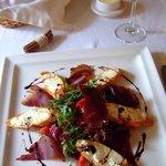 Warm Goat Cheese & Bresaola Salad