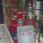General Store display of pig fat (lard)