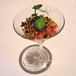 Tuna Tatare Cocktail & Pistachio Sherbet