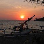 Senggigi Beach 5mins by cab from hotel