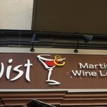 Twist Martini and Wine Lounge sign outside