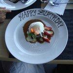 Dessert with Happy Birthday, plus candles, plus sparklers!