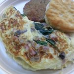 Complimentary omlettes to order!