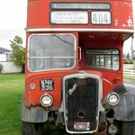 Ancient double decker bus, Tillamook