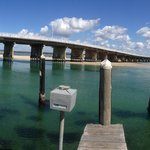 bridge outside the Reef bar