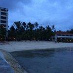 ホテルのビーチです