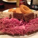 corned beef tender and piled high