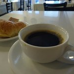My chicory coffee and croissant
