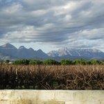 The majestic mountains surrounding Die Eike