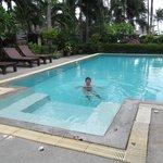 Huge pool was very warm